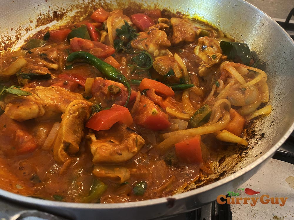 Jalfrezi curry with chicken