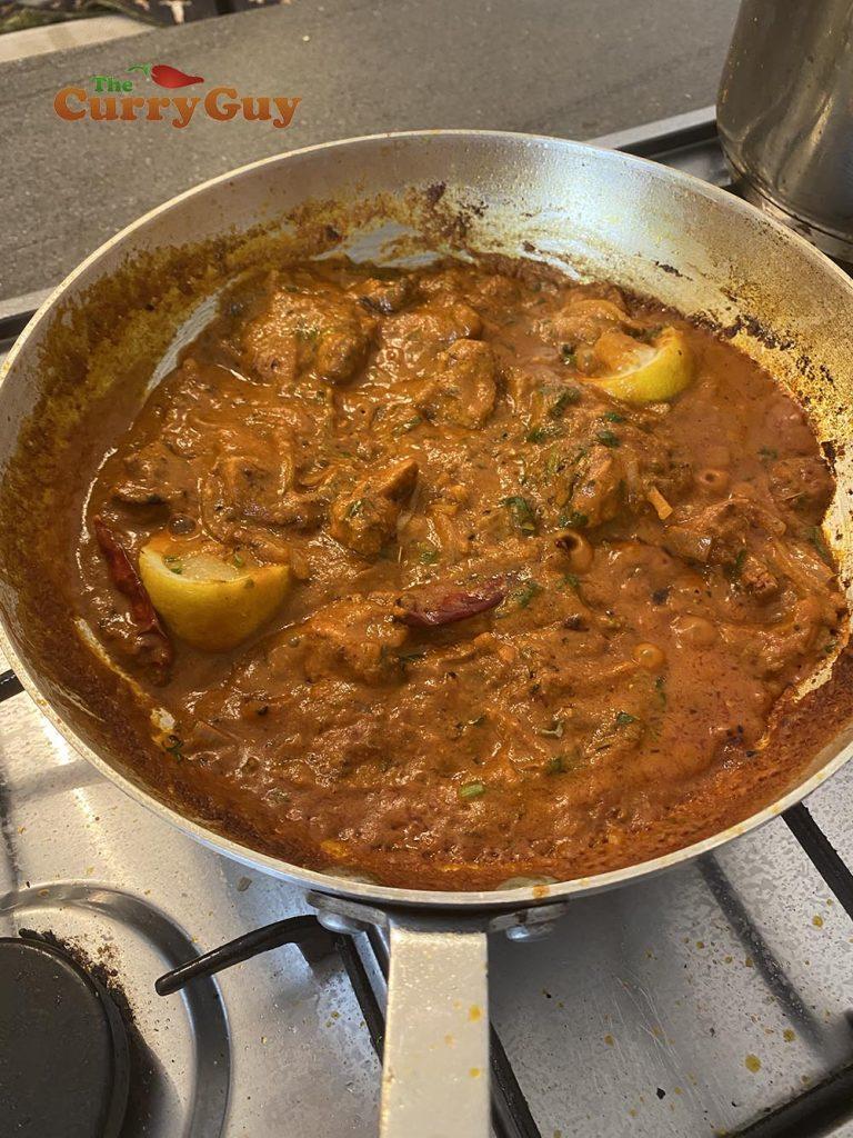 Lamb achari sauce