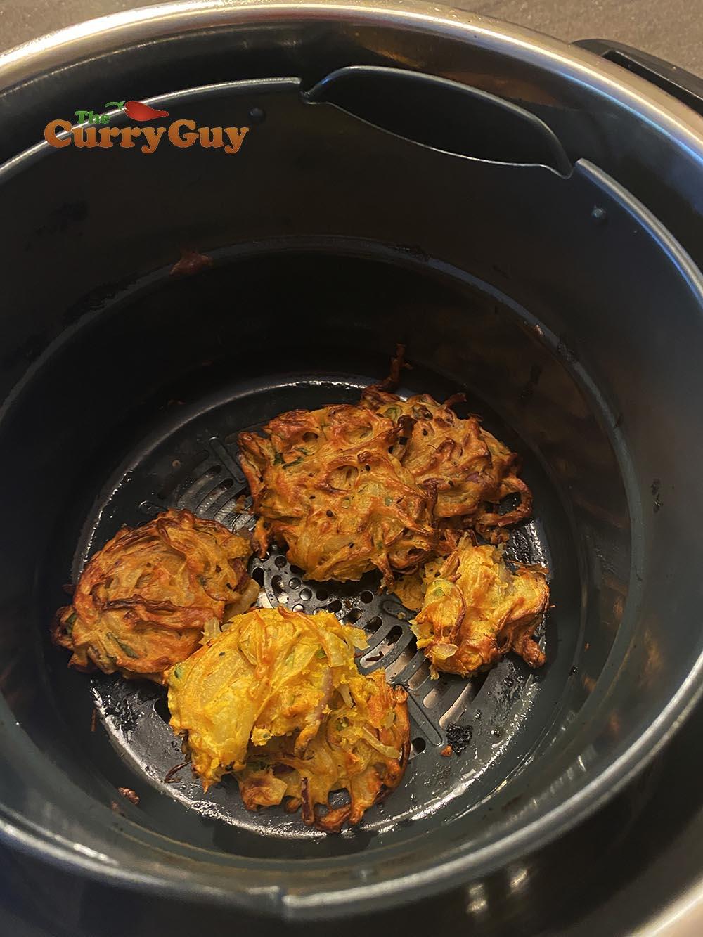 cooked bhajis