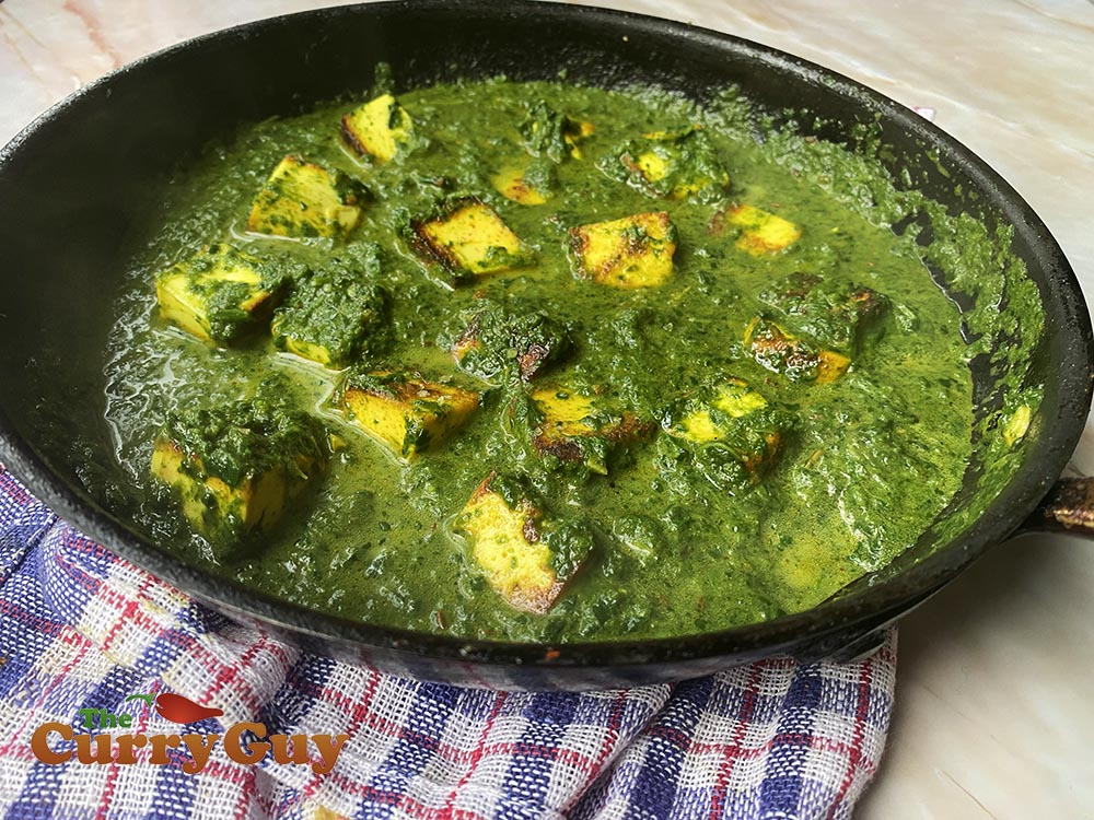 Saag paneer curry