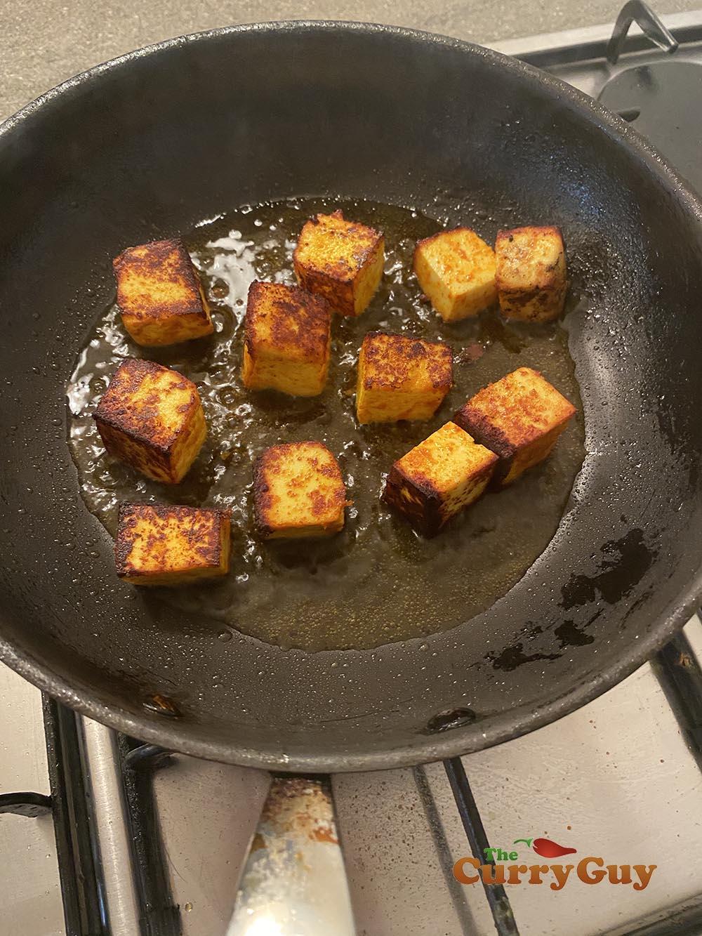 frying paneer