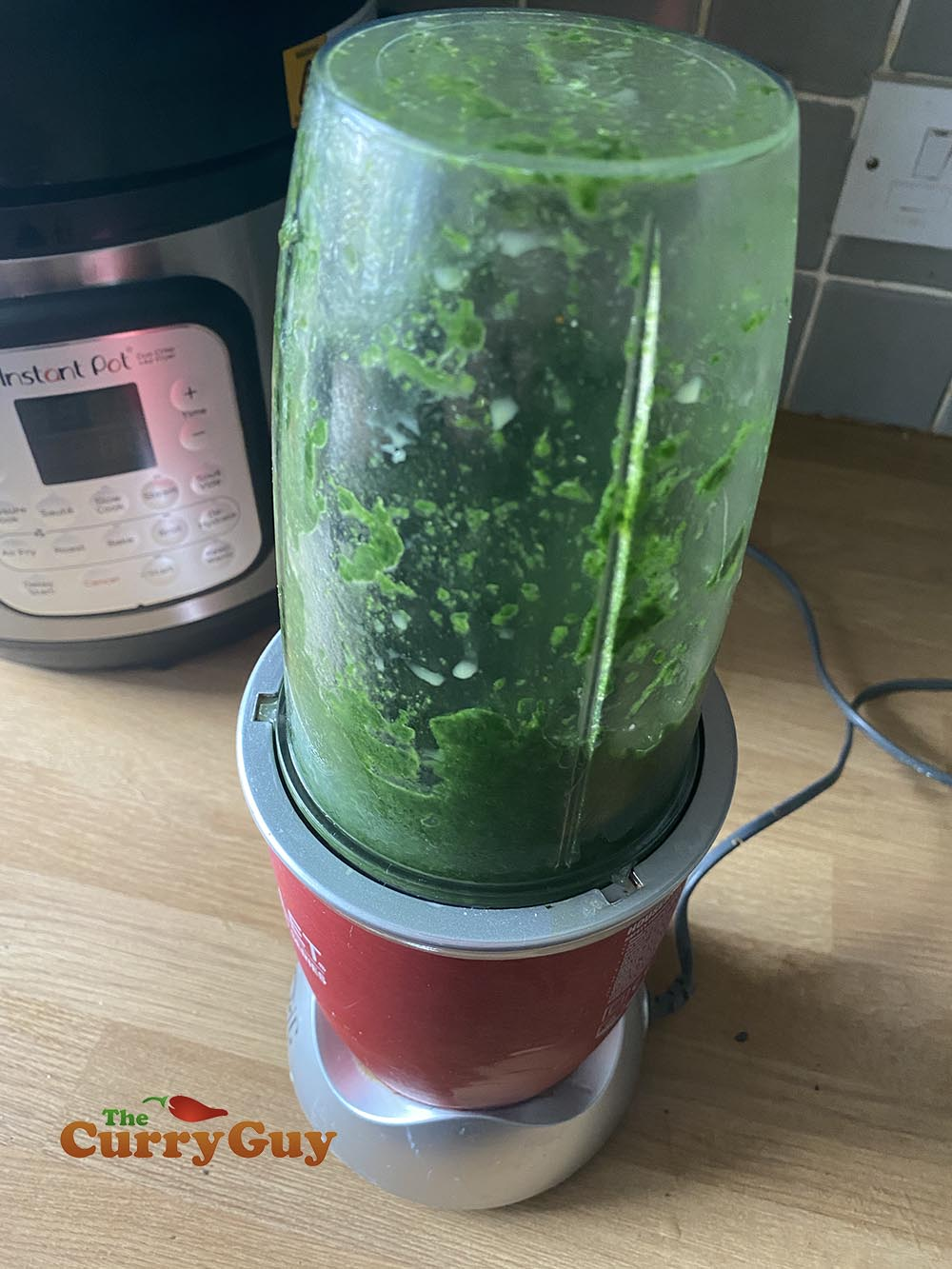 Blending spinach