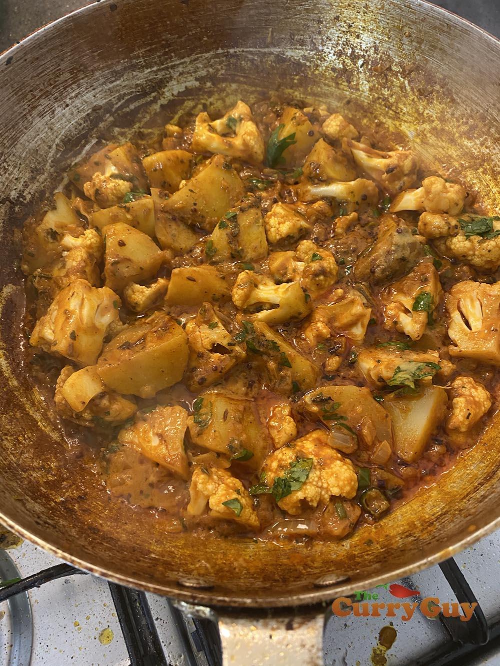 Cooked aloo gobi