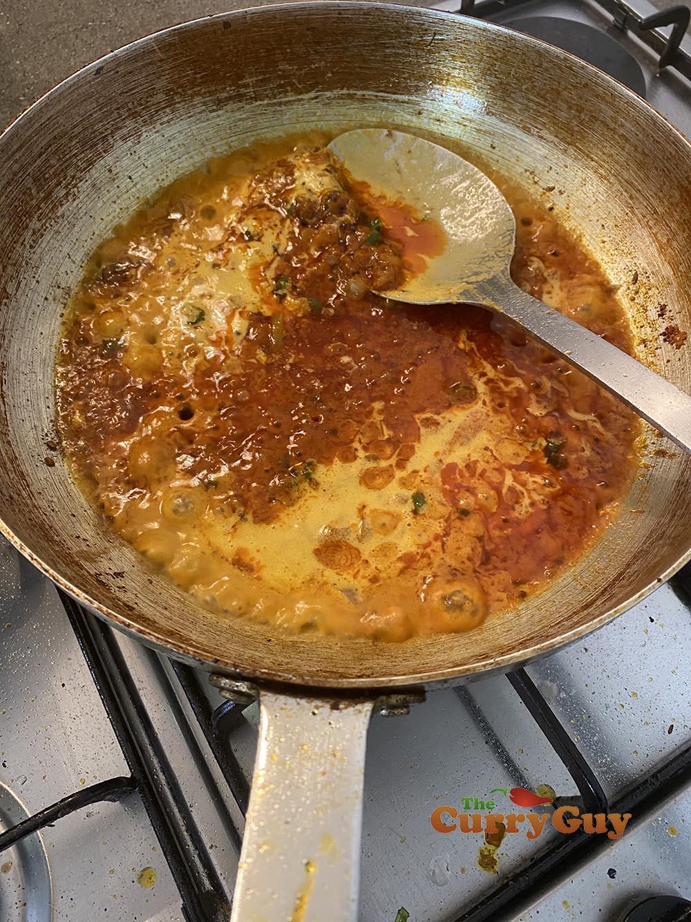 Adding base sauce
