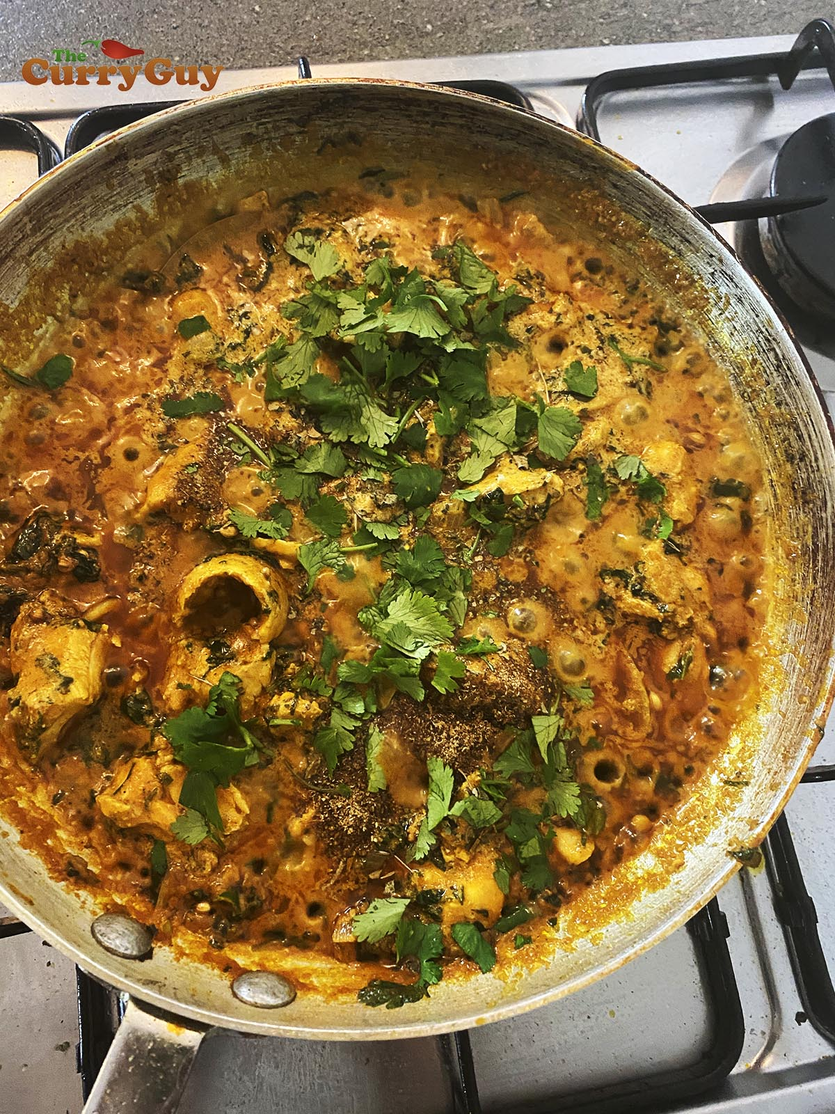 finished chicken methi curry.