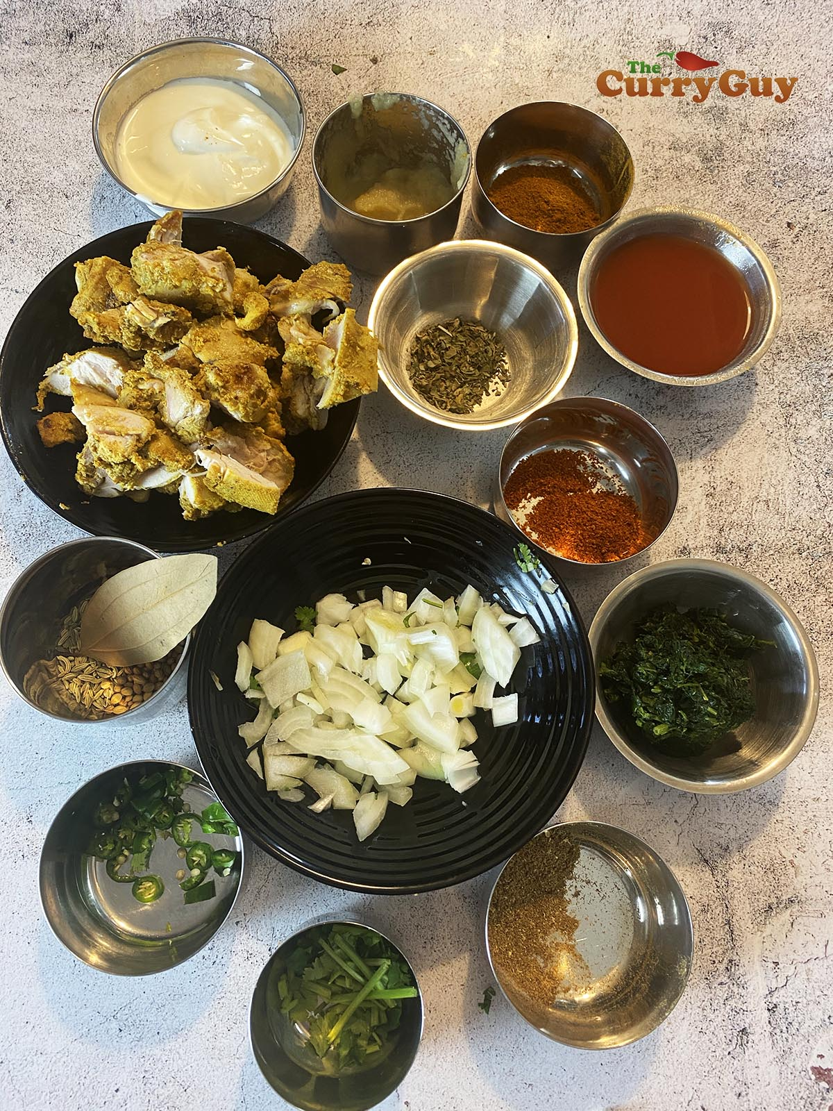 Ingredients for chicken methi