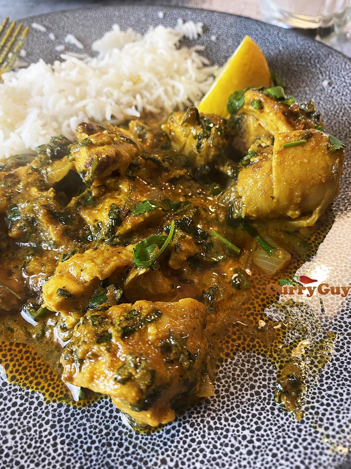 Finished chicken methi curry