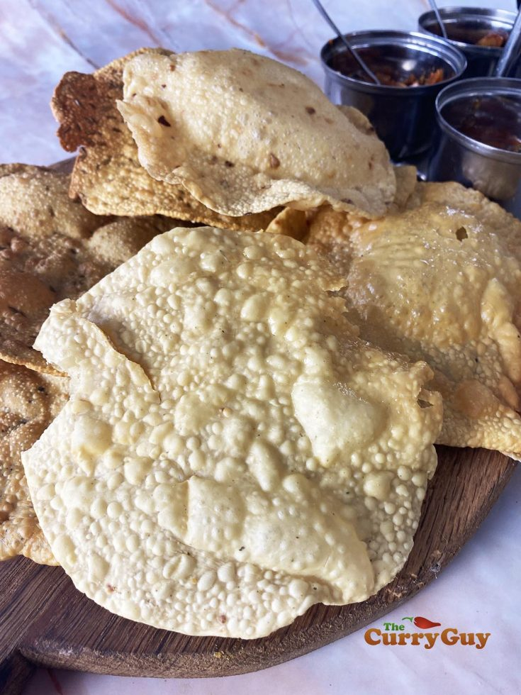 Homemade poppadom recipe photo selection