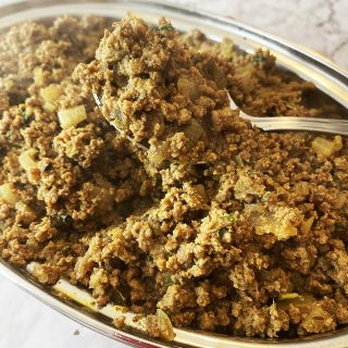 finished keema recipe