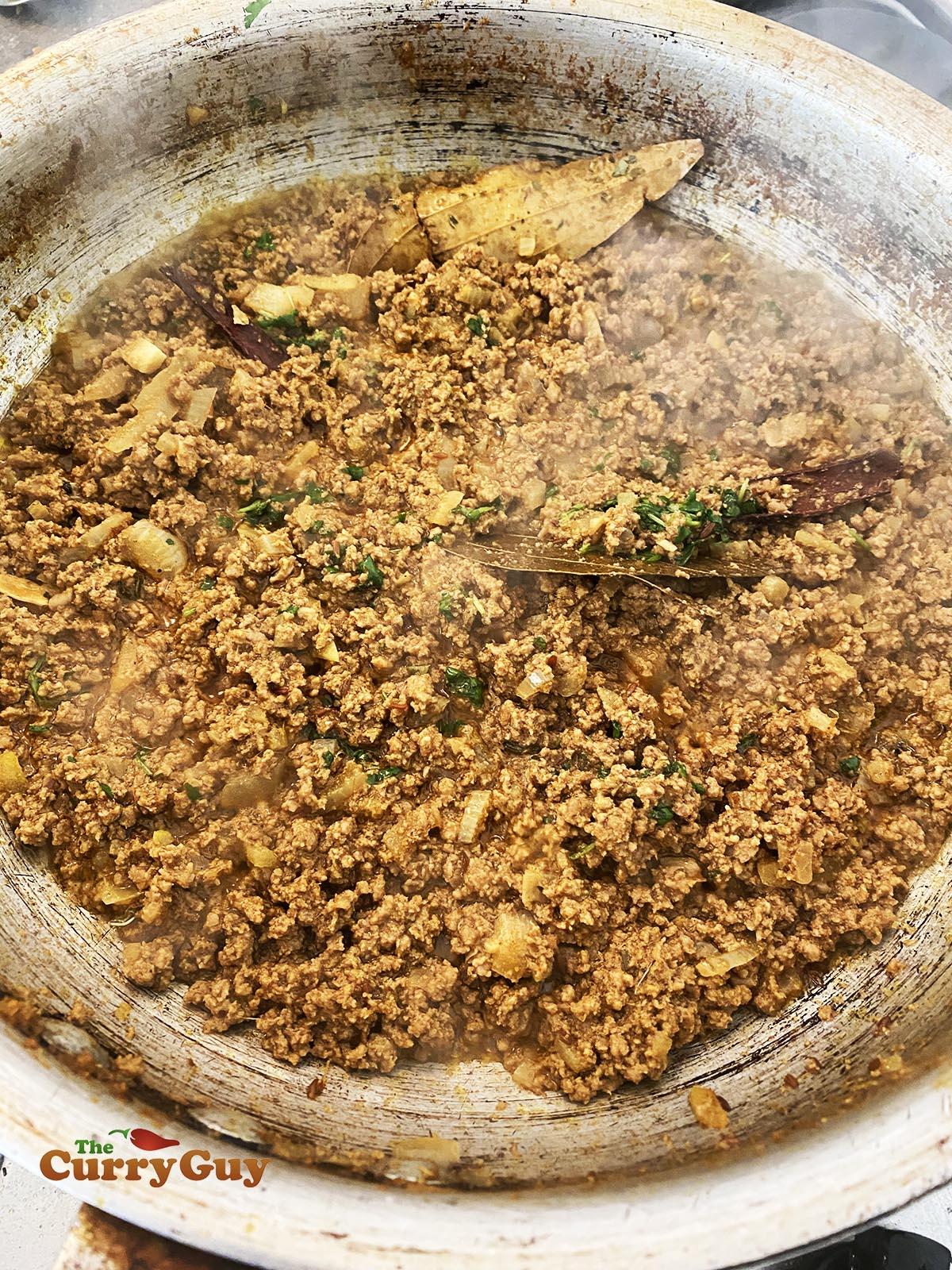 Finished keema recipe
