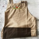 Brown curry guy apron with brown pocket
