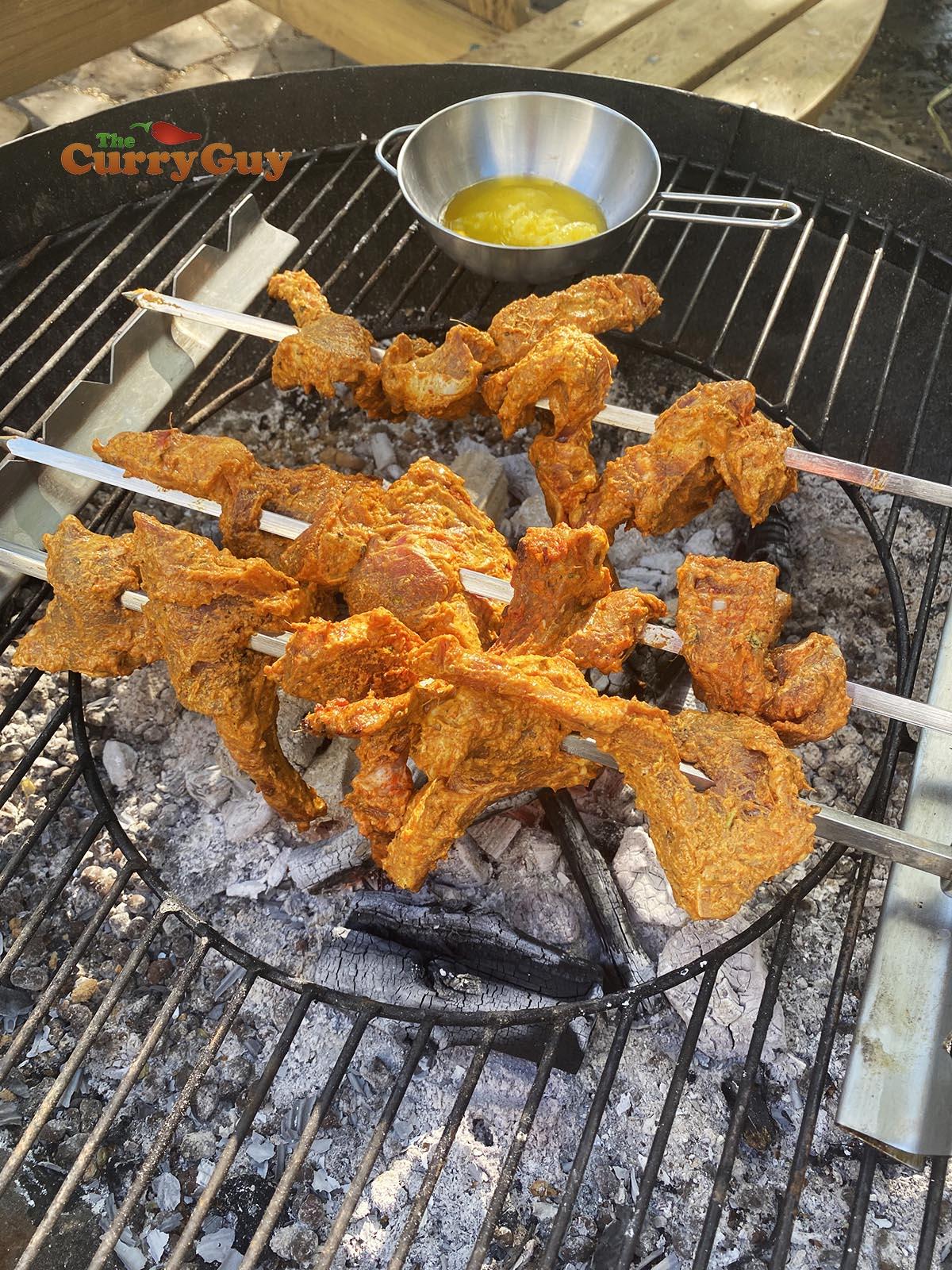 Cooking Burra kebabs
