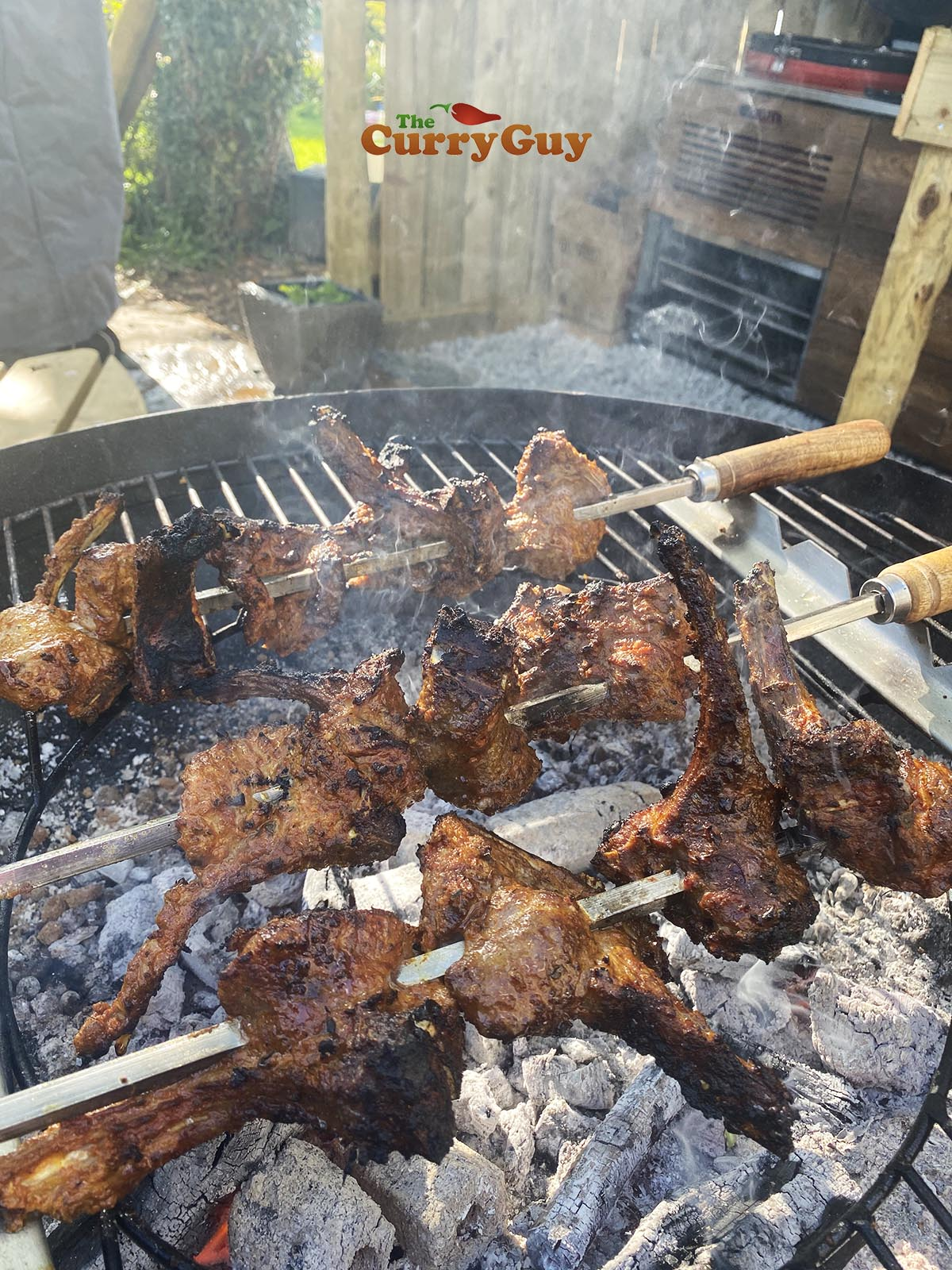 Grilled spicy lamb chops