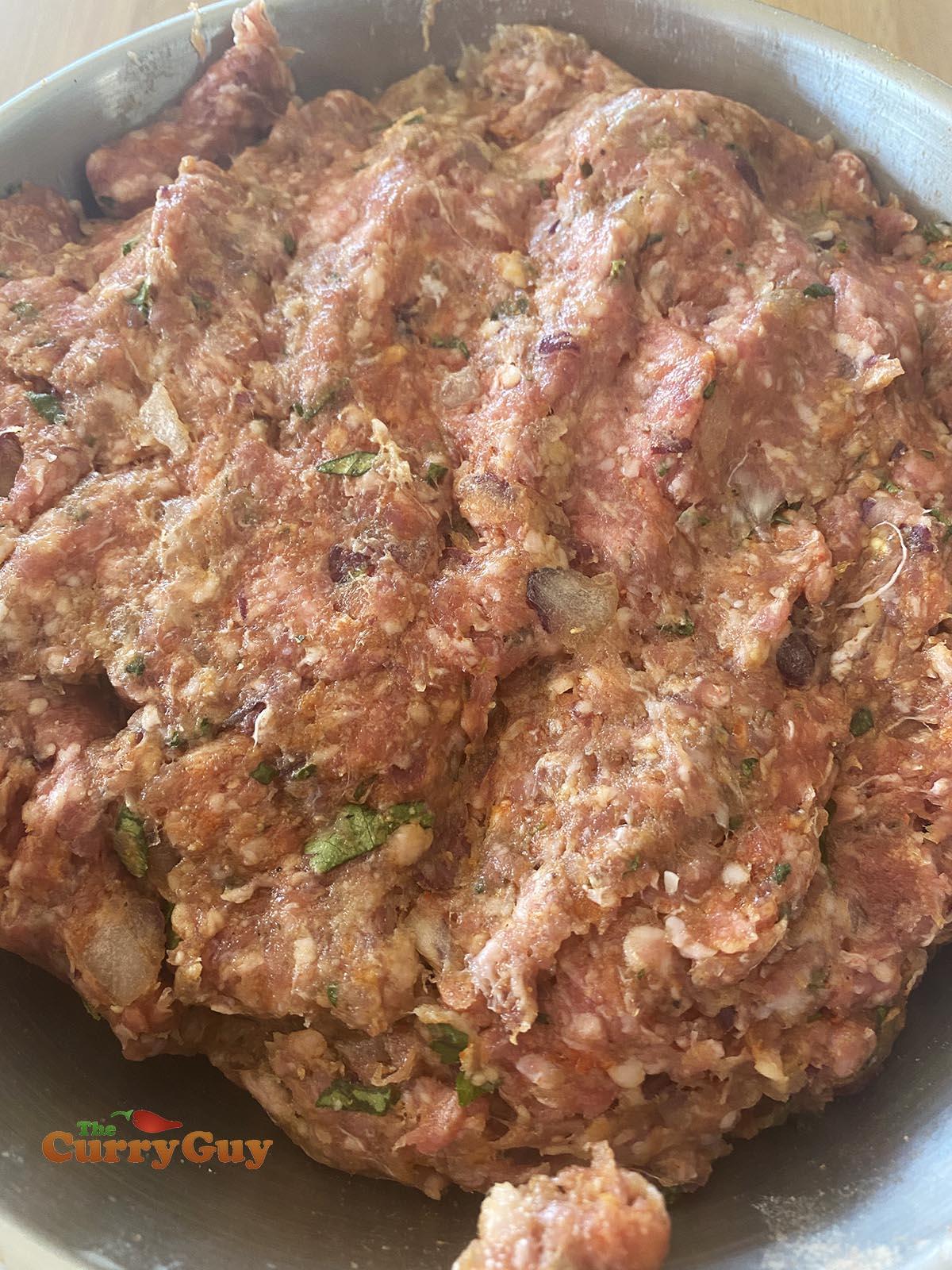 Seekh kebab meat