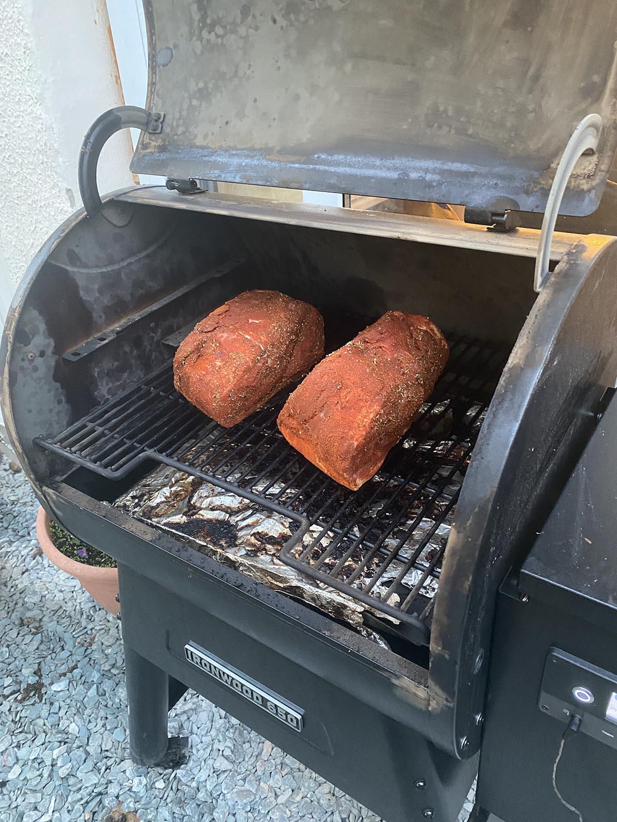 Cooking pork butt