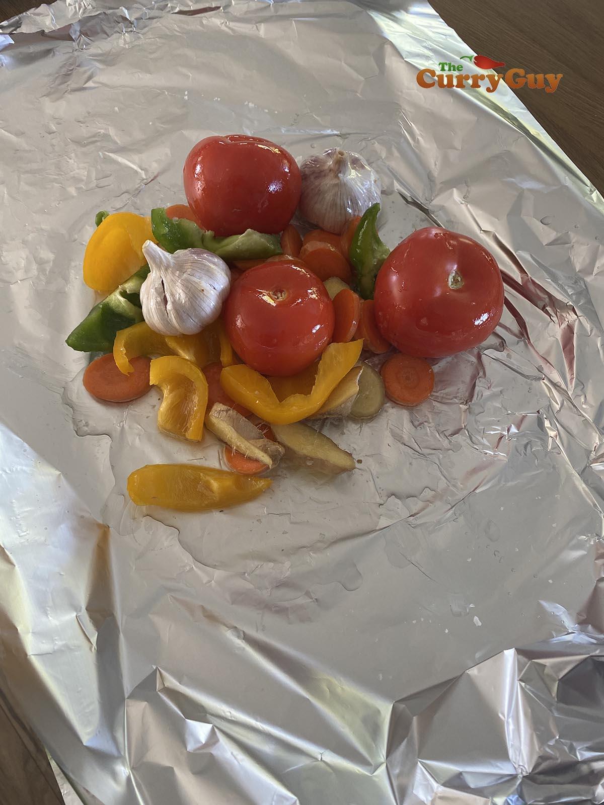 hobo pack of vegetables