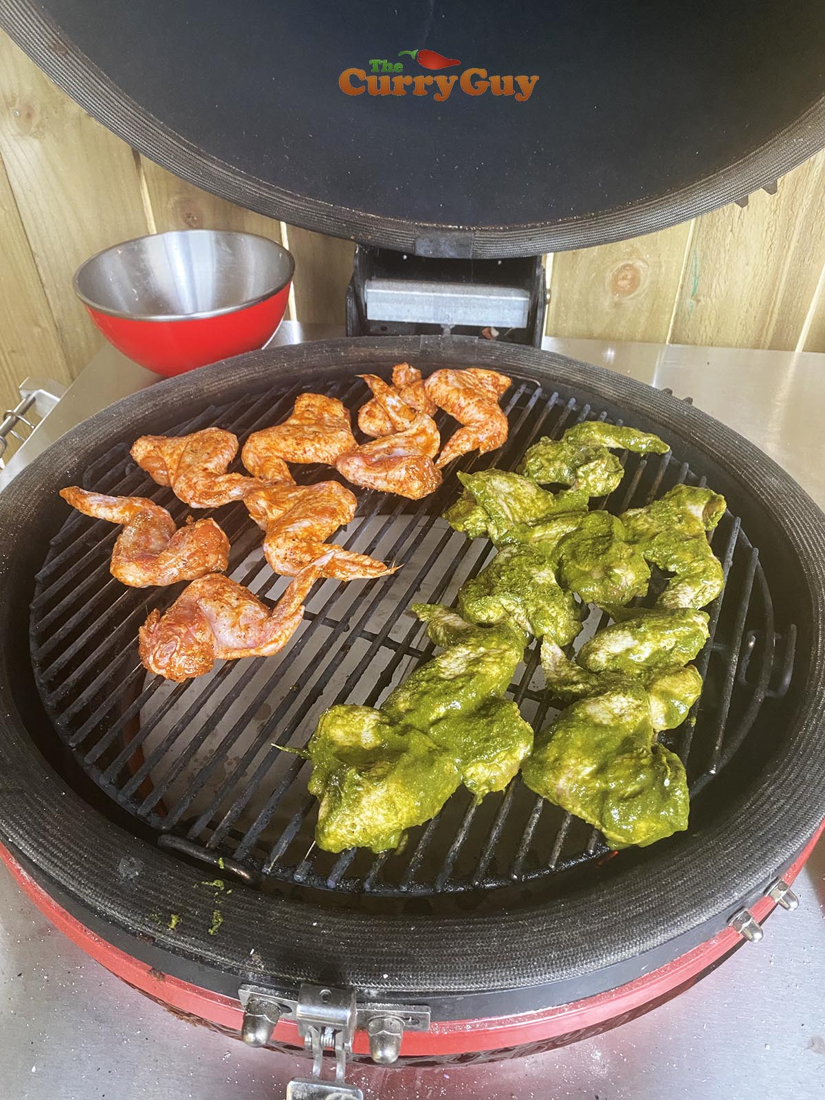Cooking cafreal chicken wings