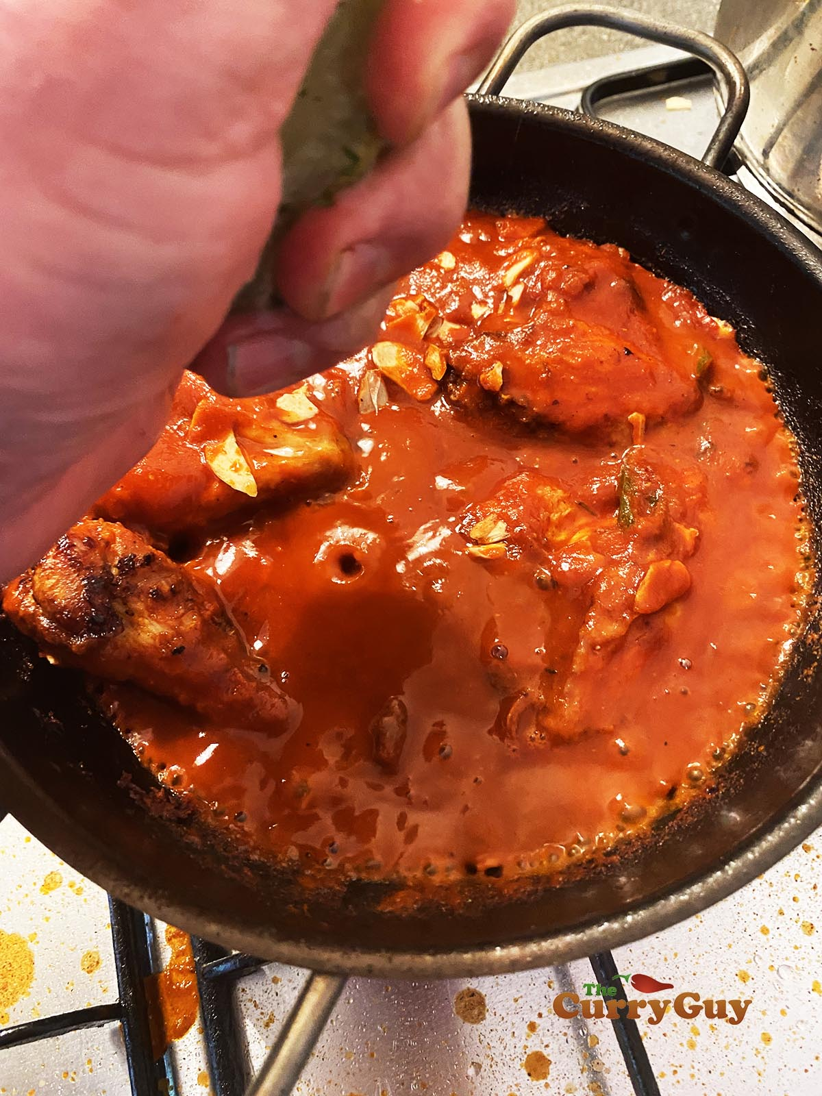 Finished curry chicken wings